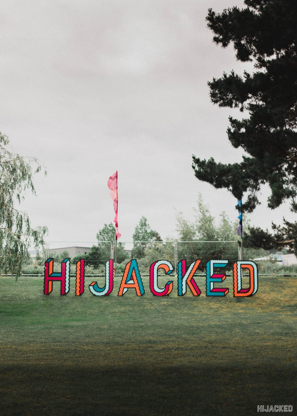 cut-out letters at the festival ground
